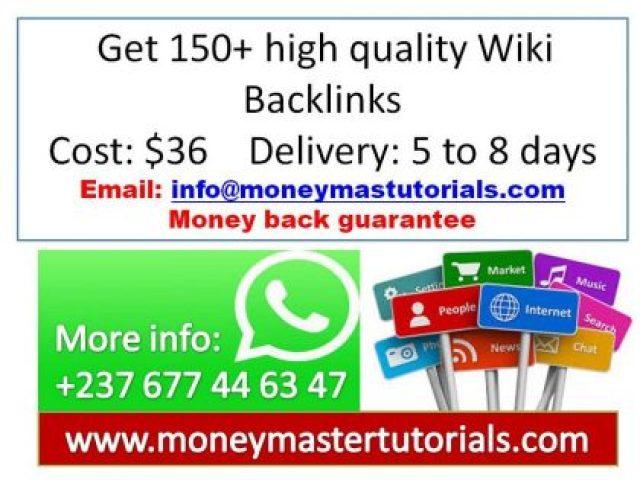 Get 150+ high quality Wiki Backlinks