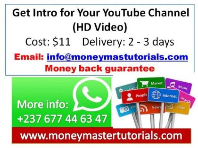 Get Intro for Your YouTube Channel (HD Video)