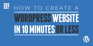 How to create a website in 10 minutes