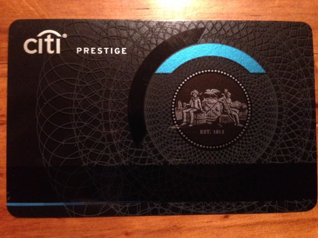 The Citi Prestige card will fool almost every person trying to swipe it, especially in a dark bar.