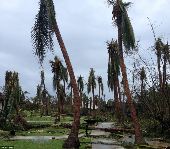 Tropical Storm Winston devestated the Tokoriki Island Resort, Image courtesy of Reuters