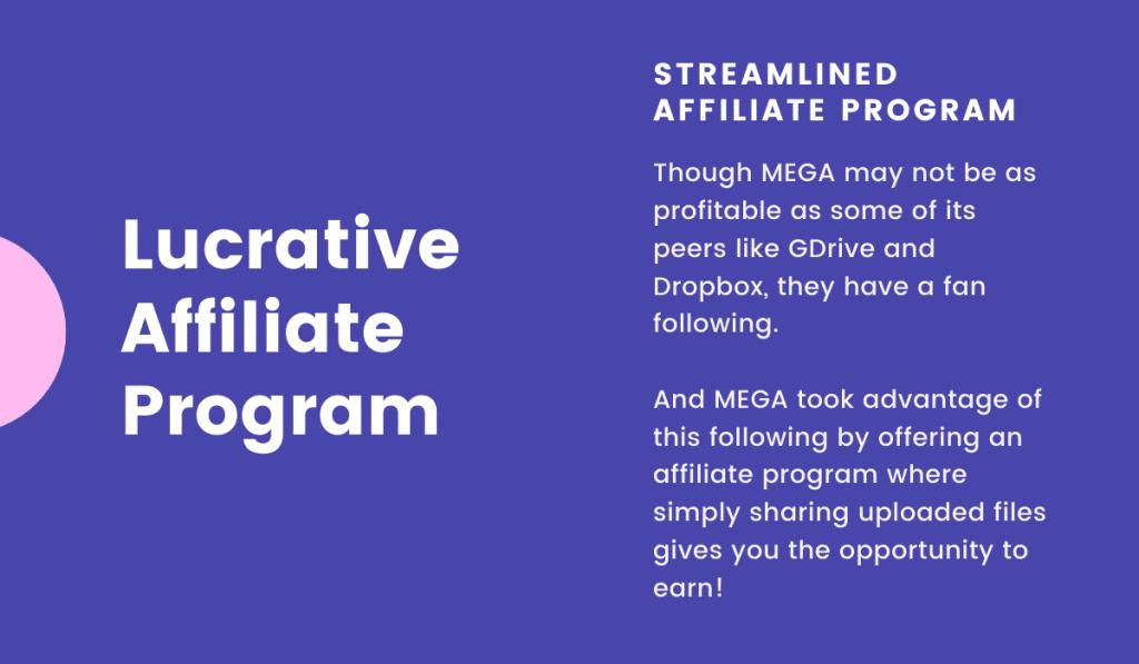 MEGA business model offers a lucrative affiliate program