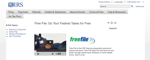 tax mistakes irs free file