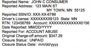 bad credit bank account black mark
