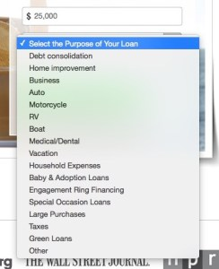 peer to peer lending prosper purpose of loan