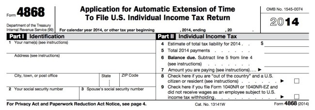 How To File For A Tax Extension Money Nation