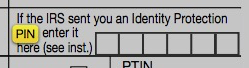 tax refund theft irs ip pin enter