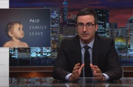 John Oliver Talks About Paid Family Leave for Mother's Day