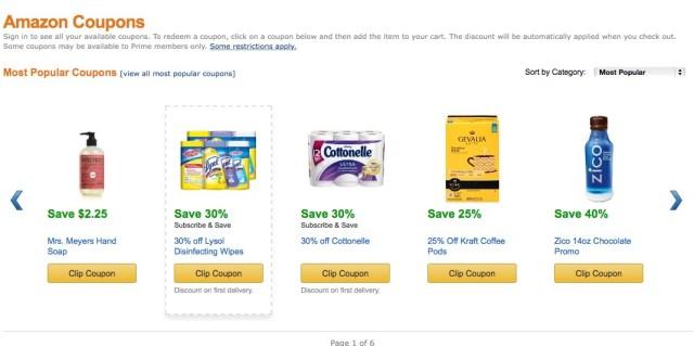 save money amazon coupons