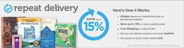 save money on dog food repeat delivery petco