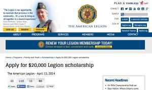 big scholarships american legion