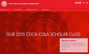 big scholarships coca cola