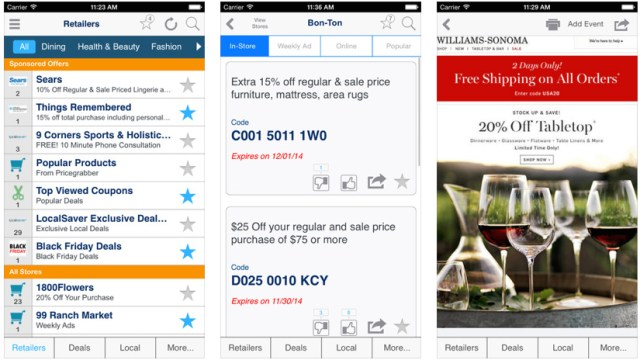 iphone coupon apps