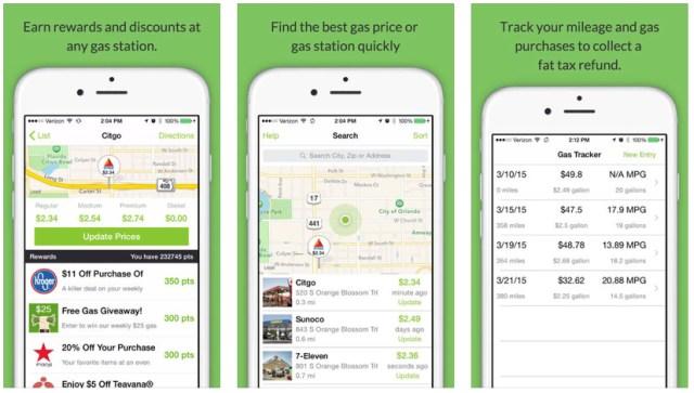 iphone gas apps fuelzee save money