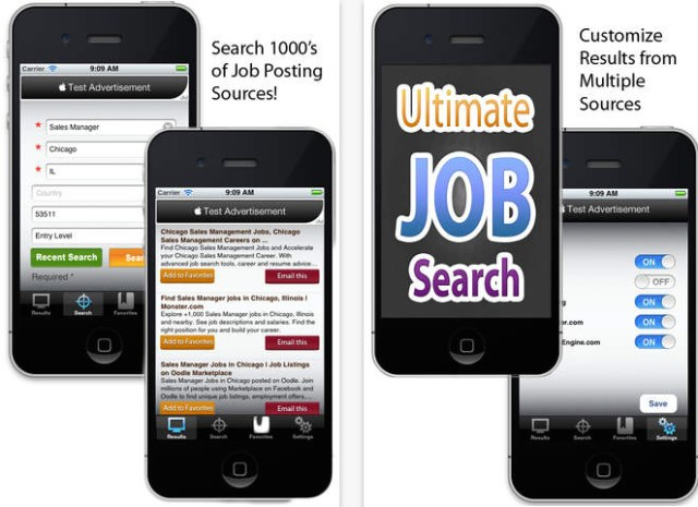 job search apps itunes ultimate job search