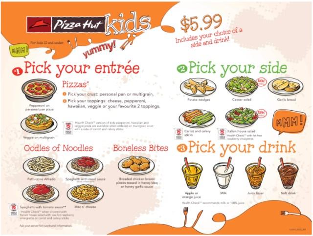 kids eat free pizza hut