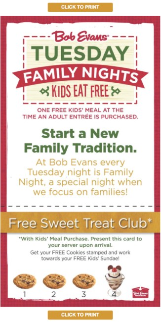 restaurants kids eat free