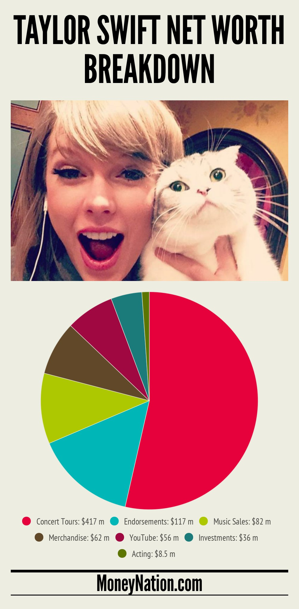 Taylor Swift Net Worth Breakdown