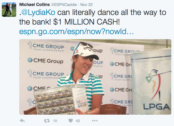 Lydia Ko Earnings Globe