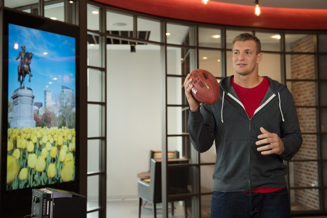 New England Patriots' tight end Rob Gronkowski offers advice on saving money.