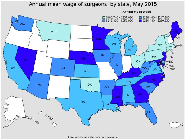 Doctor Money Pay by Region