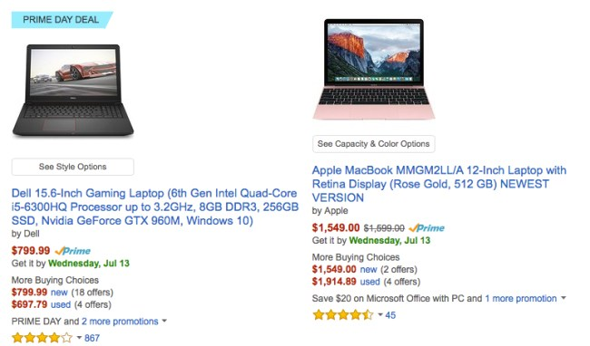 Amazon Prime Day Deals on Apple