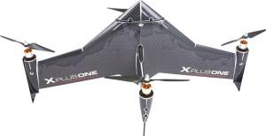 xCraft - X PlusOne: Platinum Quadcopter - Black Carbon Fiber