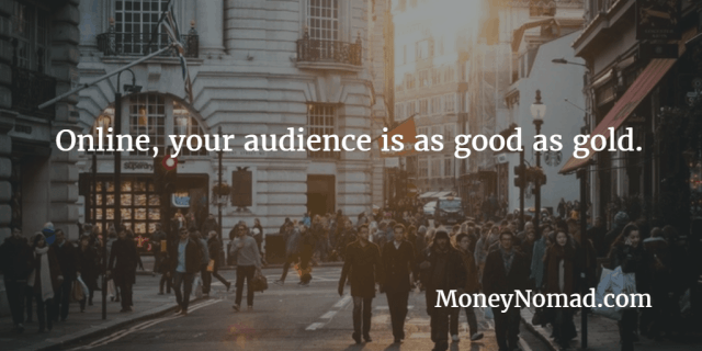 sell your audience for money
