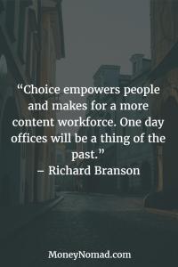 Richard Branson Digital Nomad