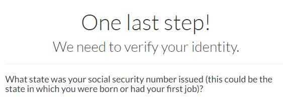 Self Lender Identity Questionaire