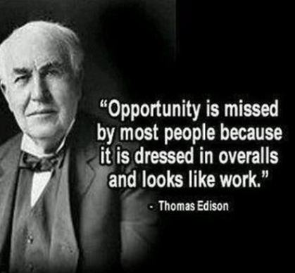 Thomas Edison Hard Work Quote
