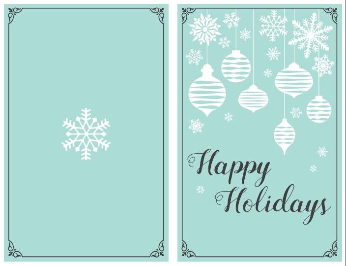 47 Free Printable Christmas Card Templates You Can Even