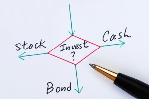 Decide to invest in Stocks, Bonds, or Cash concepts of investment ideas