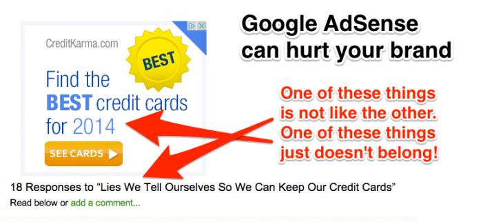 Google AdSense Can Hurt Your Brand