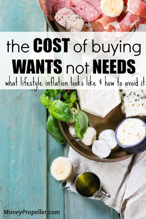 The Cost of Buying WANTS not NEEDS. This is what lifestyle inflation looks like and how to avoid it.