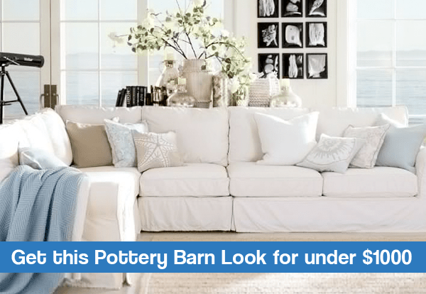 Pottery Barn Coastal Inspiration Living Room On A Budget