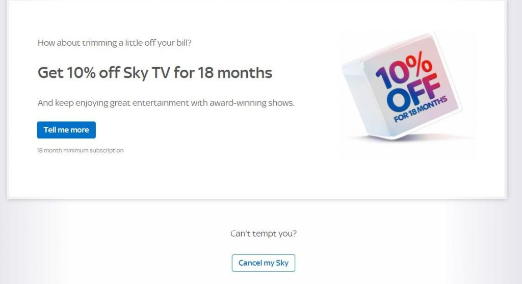 First Sky TV Discount