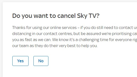 Cancel Sky Bill