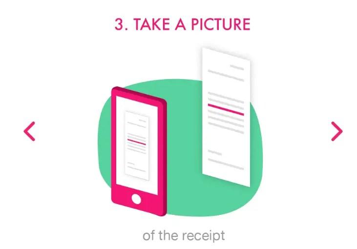 Take Photo of Receipt