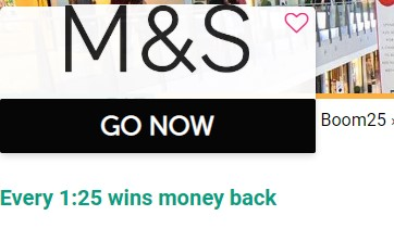 Boom25 Cashback M&S