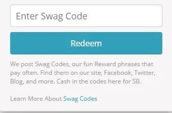 Swag Code box
