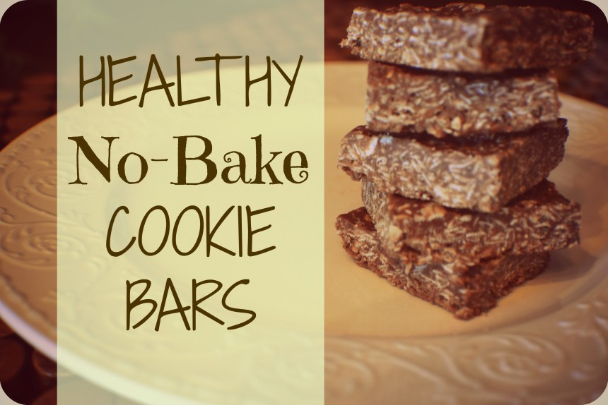 Healthy No Bake Cookie Bars