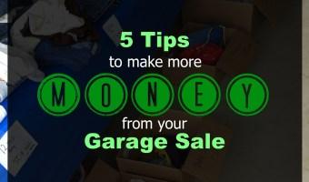 5 Tips to Make More Money from Your Garage Sale // Money Savvy Living #yardsale #garagesale #summer #money