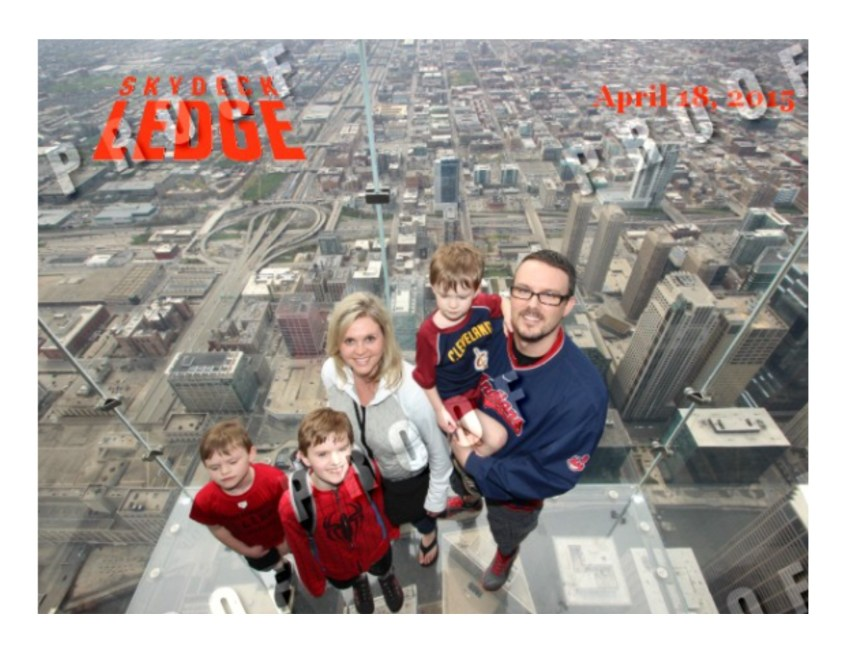 Yes, we were actually all brave enough to step out over the city at the Skydeck Ledge (photo via: theskydeckledge.com)