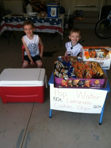 Selling snacks at a garage sale is a great way for kids to earn a little extra cash.