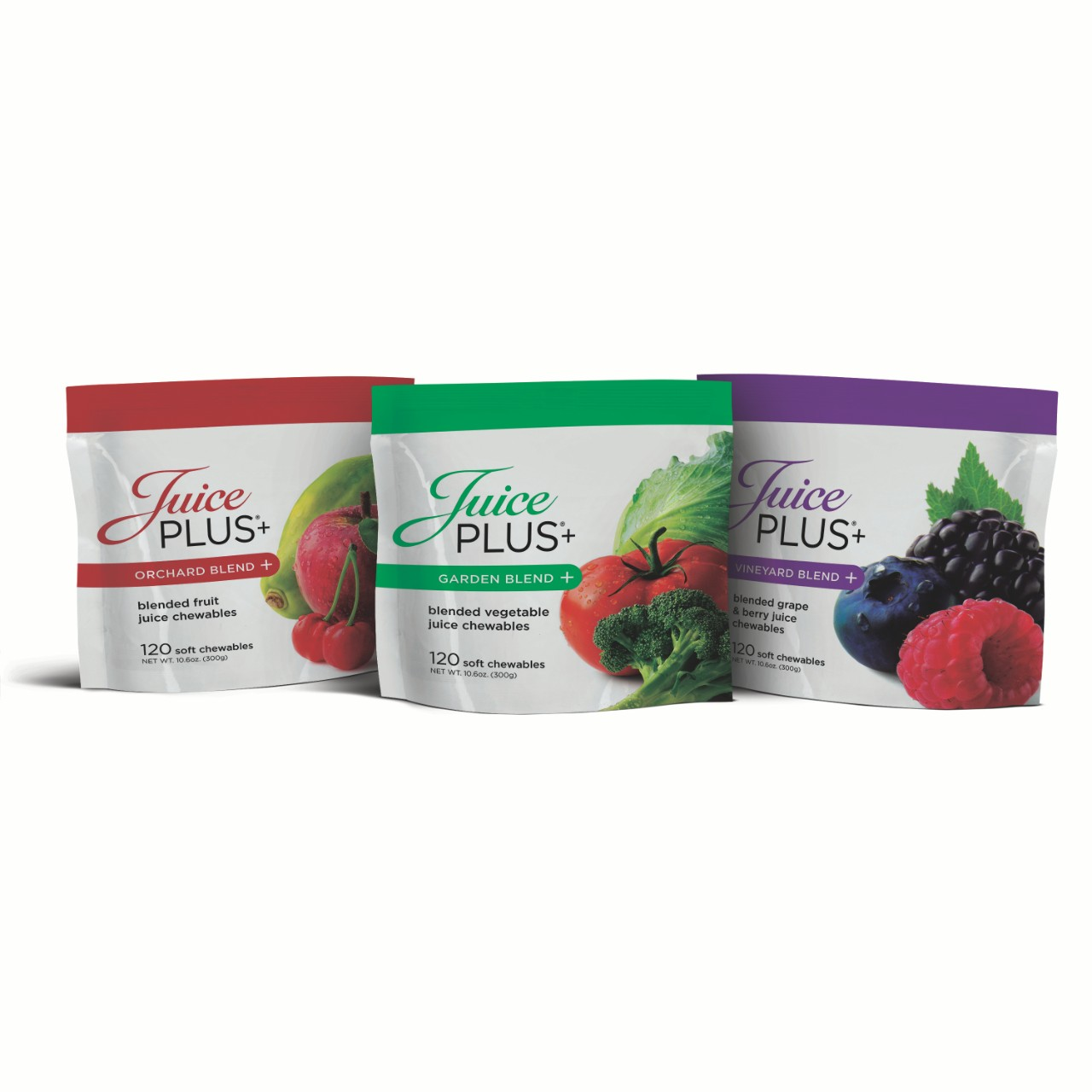 Juice Plus Triio Blend for Adults - Chewable Gummies