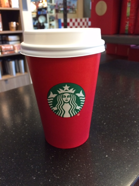 Plain Red Starbuck's Cup | Money Savvy Living