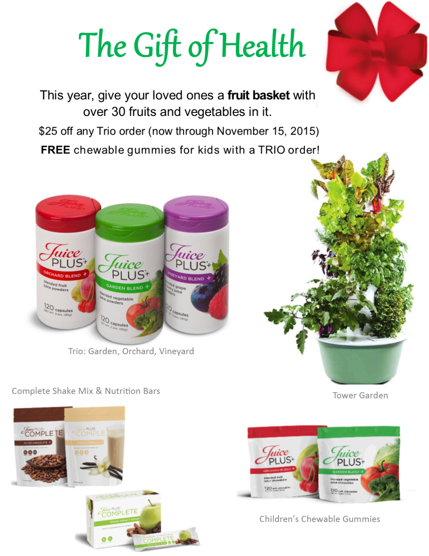 2015 Holiday Gift Guide | Juice Plus+ | Money Savvy Living