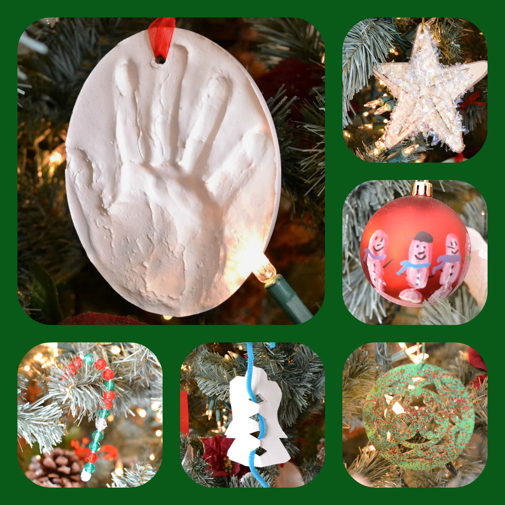 Beautiful Christmas ornaments that your kids can make that you will actually want to hang on your Christmas tree! #Christmas #ornaments #Christmastree #christmasornaments #christmascrafts #kidcrafts #diy #christmasdiy #christmasdecorations