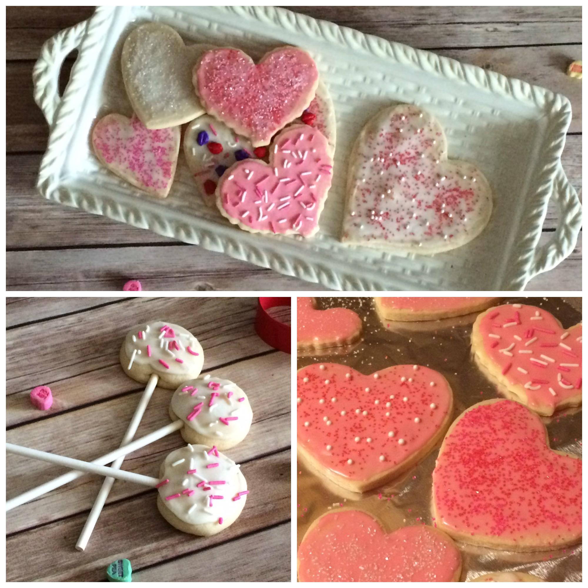 Valentine cookie collage